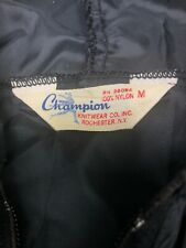 Vintage 1960s 70s Champion Running Man Tag Nylon Windbreaker Ultra Light Med
