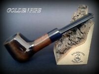 HAND MADE WOODEN SMOKING PIPE for TOBACCO PEAR  52 Straight Brown + Filter