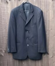 Blakes Black Mens Suit Jacket Size 38 Smart Single Breasted Wool Mix