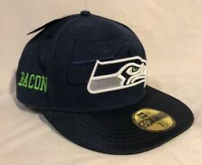 SEATTLE SEAHAWKS New Era 59fifty Mens Fitted Hat Cap 7 1 2 Bacon 3cf0530f4