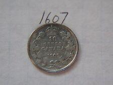 1909 10c ten cents silver dime  coin Canada