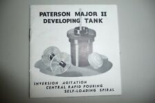 Instructions PATERSON  MAJOR II developing tank CD/Email