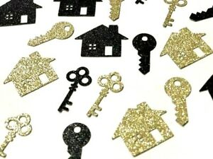 50 x House Warming House and Keys Table Confetti scatter house warming party