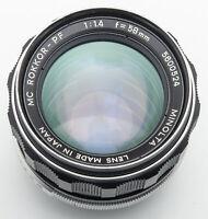 Minolta MC Rokkor-PF Rokkor PF 1:1.4 1.4 58mm 58 mm XD-7 XD X700