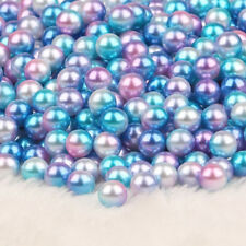 250pcs Mixed Colors Simulated Pearl Loose Large Hole Beads For Making Bracelet
