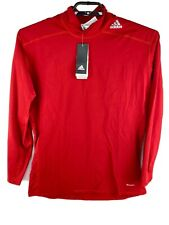 Adidas TechFit Longsleeve Shirt Men's 2XL Base Layer Red Mock ClimaWarm