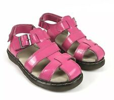 Dr. Martens Sailor Patent Leather Fisherman Sandals Hot Pink Girls Youth Size 2