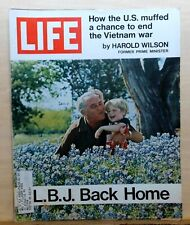 Life Magazine - May 21, 1971 - L.B.J. at home photo cover - Vietnam war