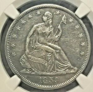 1859-S Liberty Seated Half  NGC AU details