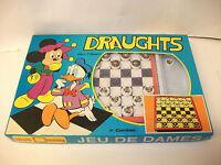 Vintage Walt Disney Draughts & Board Game ~ Boxed Set