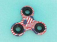 Fidget Spinner USA Flagge Finger Hand Kreisel ADHS  EDC Anti Stress Spinnerz