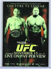 RANDY COUTURE / BROCK LESNAR - 2010 TOPPS UFC MAIN EVENT FIGHT POSTER CARD
