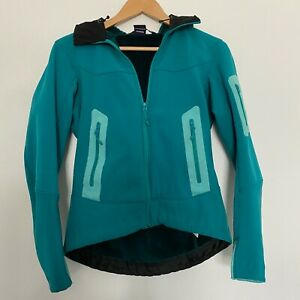 Women's Arc'teryx S Small Hyllus Hoody Softshell Polartec Fleece Jacket Green