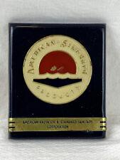 Vintage American Standard Products Emblem Badge Metal Name Plate