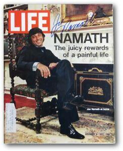 Joe Namath Signed Autographed LIFE Magazine 11/3/72 NY Jets JSA V68024