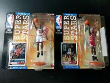 (2) Mattel 1998 MICHAEL JORDAN NBA Super Stars Living Legends Figure RED WHITE