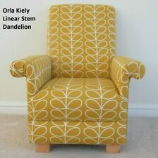 Kid's Chair Orla Kiely Linear Stem Dandelion Fabric Children's Armchair Mustard