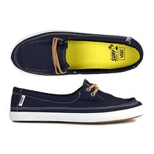 Vans Rata Lo Navy / Tan Hemp Girl Shoe Sneacker Surf Scarpe estate donna