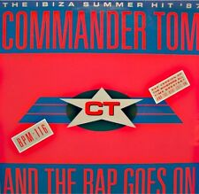 ++COMMANDER TOM and the rap goes on/can you do it in the mix MAXI 1987 CBS VG++