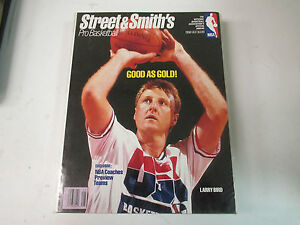 STREET & SMITH'S 1992-93  PRO BASKETBALL- LARRY BIRD USA    COVER