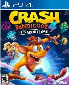 Crash Bandicoot 4: It's About Time GAME ONLY (Sony Playstation 4, 2020) PS4