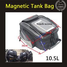 Universal Motorcycle Sport Bike Magnetic Tank Bag Luggage Waterproof Cover Black
