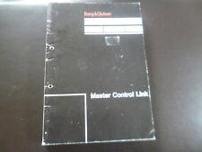 Original Service Manual Gebrauchsanweisung Bang& Olufsen Master Control Link