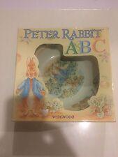Wedgwood PETER RABBIT Child's Bowl and Plate Set 1997 ABC's NIB