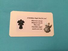 BIRTHDAY GUARDIAN ANGEL keepsake Card Charm Gift PURSE WALLET Filler Lucky