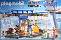 Playmobil 5338 Flughafen mit  Tower Airport Check-In Gepäckabgabe Kontrolle NEU