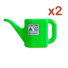 2 X 2L Watering Can Green Plastic Flower Plant Garden Measuring Handle