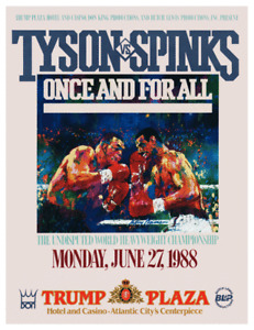 AMAZING Boxing POSTER -1988 Mike Tyson vs Michael Spinks CHAMPIONSHIP @ Trump