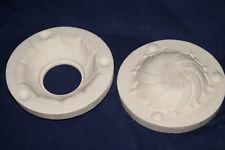 "Vintage Ceramic Pottery Slip Casting Mold - Bell Mold #323 - Swirl Dish - 7"""