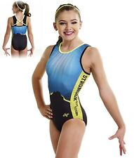 NWT PS2064 No Limits Stronger Than Yesterday Alpha Factor gymnastic leotard AM