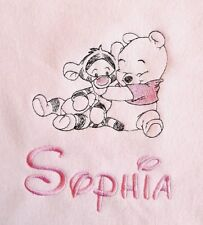 Personalised soft fleece baby blanket. choice of 5 designs and 5 colour blankets