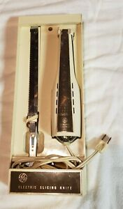 Vintage General Electric GE Electric Slicing Knife with Wall Mount Holder Case