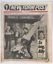 12-29-1989 NEW YORK POST NEWSPAPER NY YANKEES LEGEND BILLY MARTIN WAKE