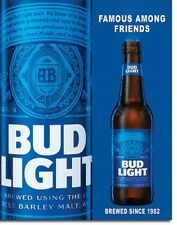 Bud Light Beer Famous Among Friends ad Tin Sign vintage home bar wall decor 2183
