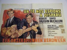 Man from UNCLE One of Our Spies is Missing Belgian 1/2 Sheet Fine Very Rare