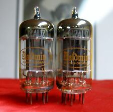 1959 Toshiba 12AU7 PLATINUM PLUS+ GRADE D Getter Preamp Tubes Matched Pair ECC82