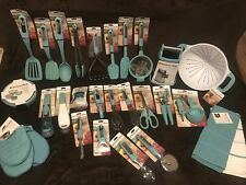 KitchenAid Aqua Blue Sky 39pc set/lot turner spatula peeler Can Opener HAQA NWT