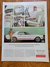 1965 Ford Mustang GT Ad New Luxury Interiors GT Performance America's Favorite