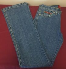 NWT Junior Ladies Richcow Light Wash Denim Straight Leg Jeans Size 7