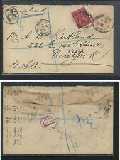 Great Britain uprated postal envelope to Us Ps0417