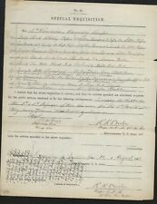 Civil War Document General David M Gregg Signed 2nd Cavalry Division