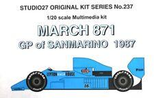 1/20 March 871 - 1987 San Marino GP - Studio27 resin kit