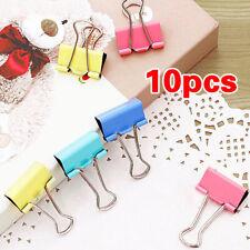 New 10pcs 15mm Metal Binding Clip Paper Clip Stationery Randomly Office Supplies