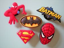 Jibbitz Croc Clog Kid Shoe Charm 5 Spiderman Superman Batman Fit Bracelet Belts