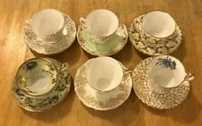 MISMATCHED TEA CUPS AND SAUCERS LOT #5 SIX SHABBY CHIC TEA PARTIES AND MORE