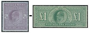 Edward VII Sg 260-Sg 266 Good Used Condition Single Stamps